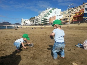 Family holiday, winter with children in Canary islands