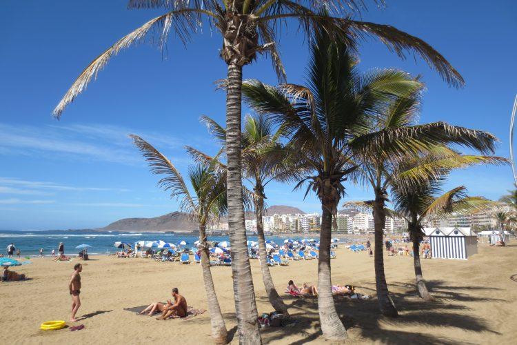 Las Palmas beach Las Canteras in March