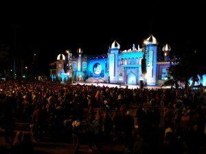 Carnival at night, Santa Catalina stage