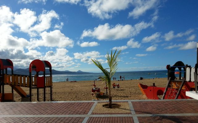 Children playground in Las Canteras beach